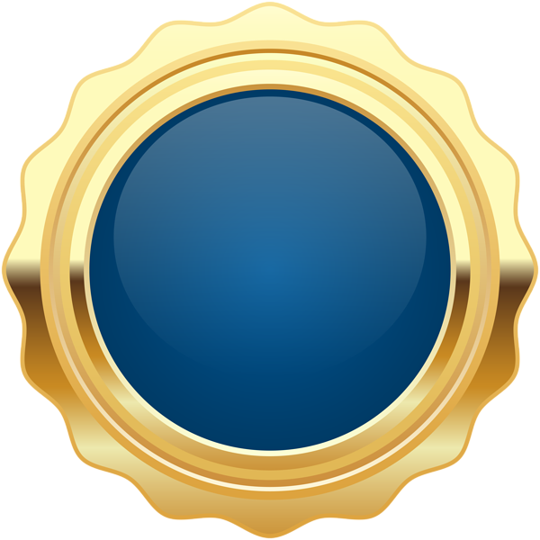 Seal Badge Blue Gold PNG Clip Art Image | Gallery Yopriceville ... clip black and white library