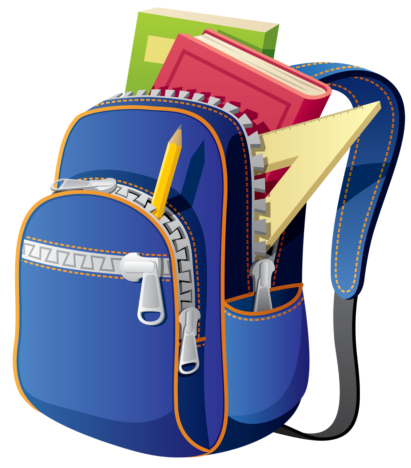 School bags clipart graphic free download Backpack School Bag Clip art - backpack 1406*1600 transprent Png ... graphic free download
