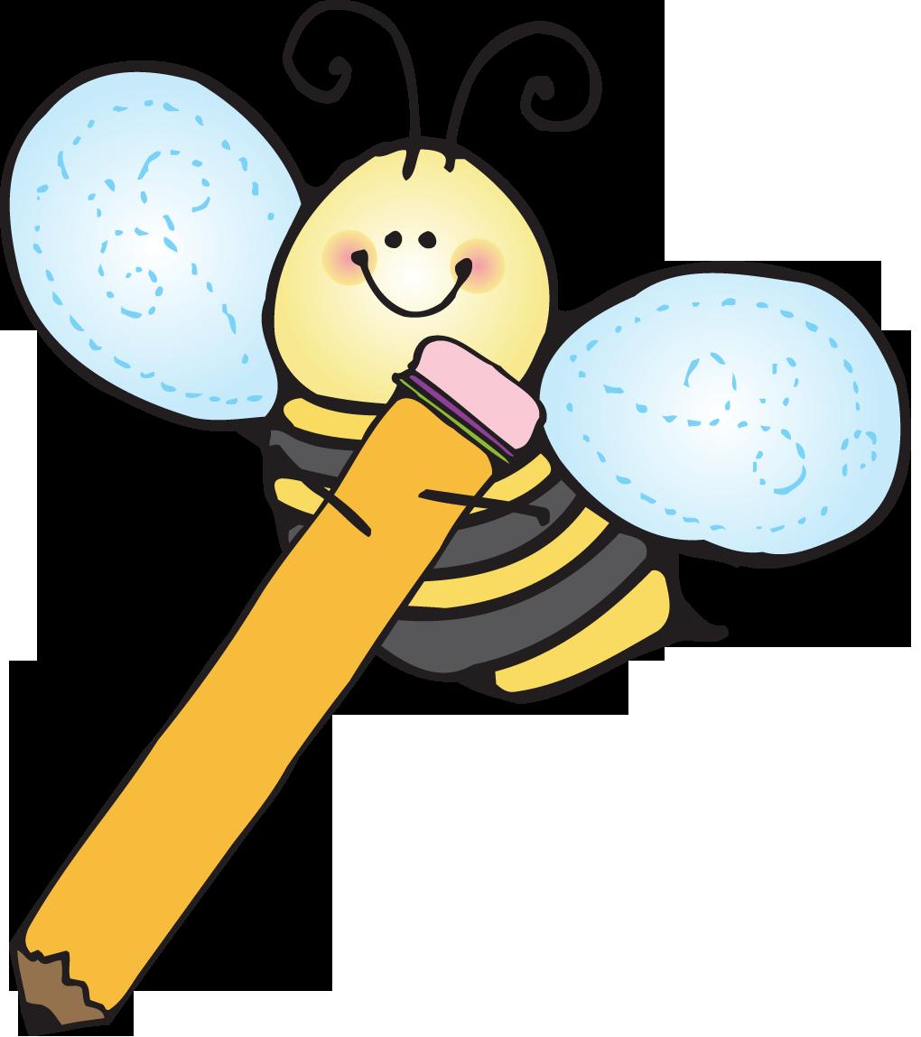 School bee clipart vector transparent stock Writing bees clipart - Clipartix vector transparent stock