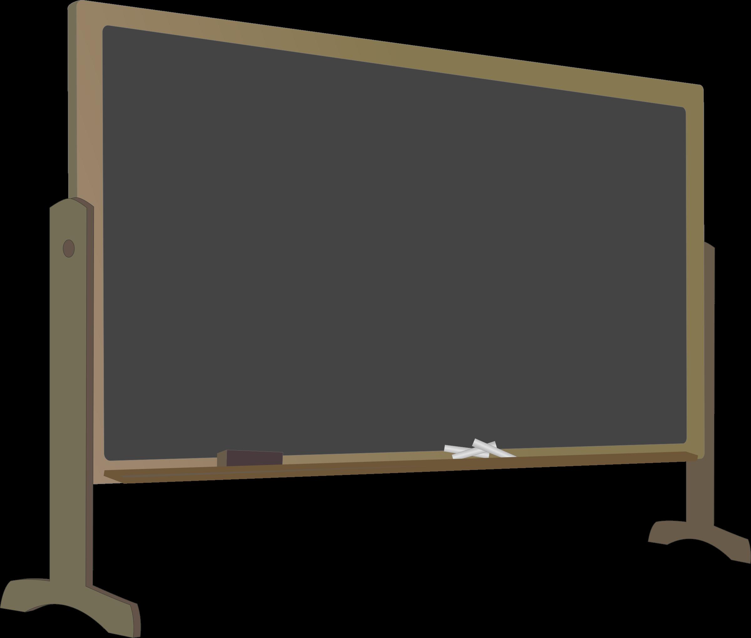 School blackboard clipart clip art black and white stock Clipart - Blackboard with Stand clip art black and white stock