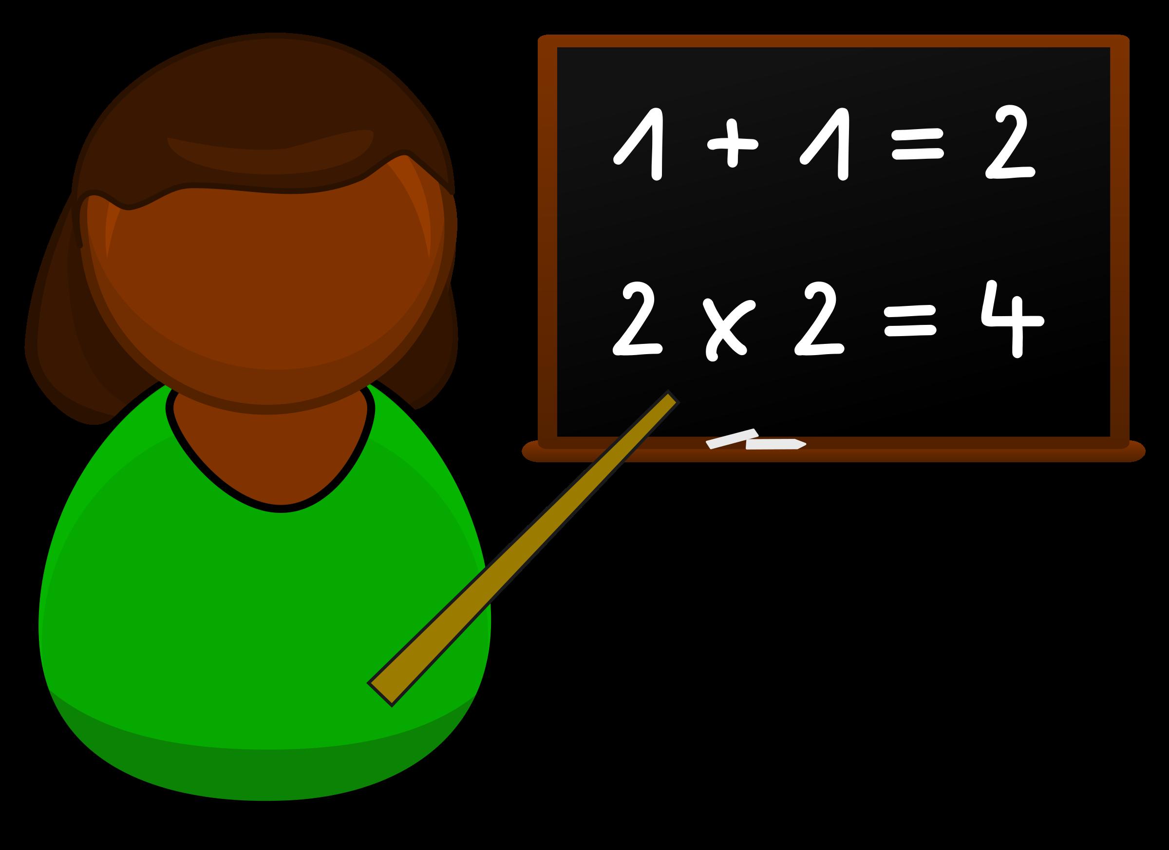 School blackboard clipart image royalty free Clipart - Teacher in a greener dress image royalty free