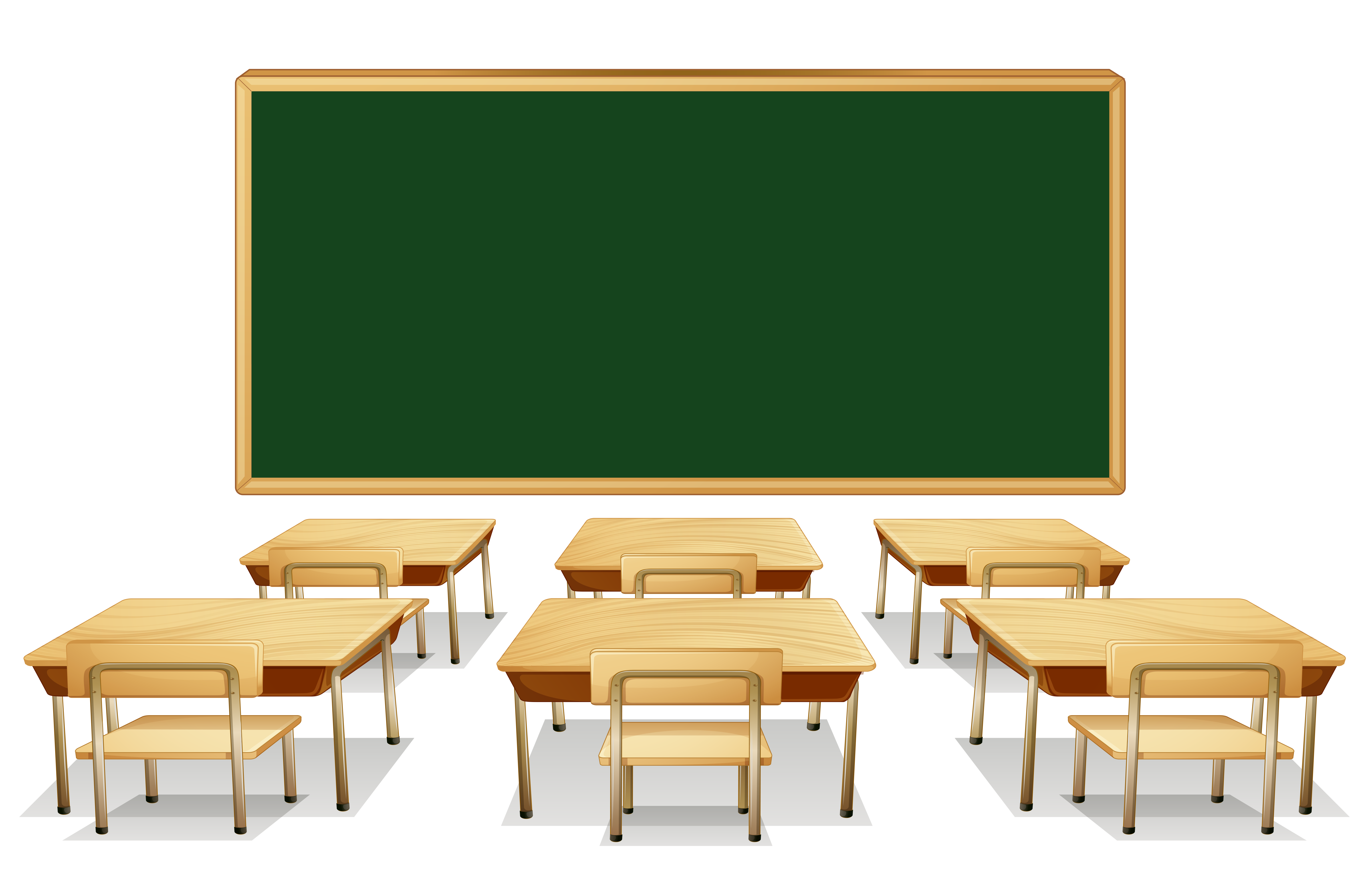 School board clipart clipart library stock Classroom with Green Board and Desks PNG Clipart Image | Gallery ... clipart library stock