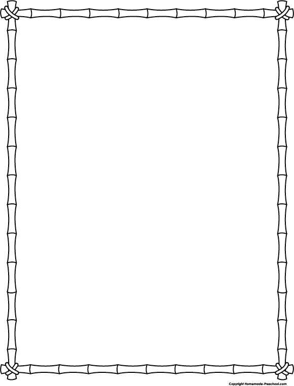 Thanksgiving borders clipart black and white png transparent library Images of Bamboo Border Black And White - #SpaceHero png transparent library