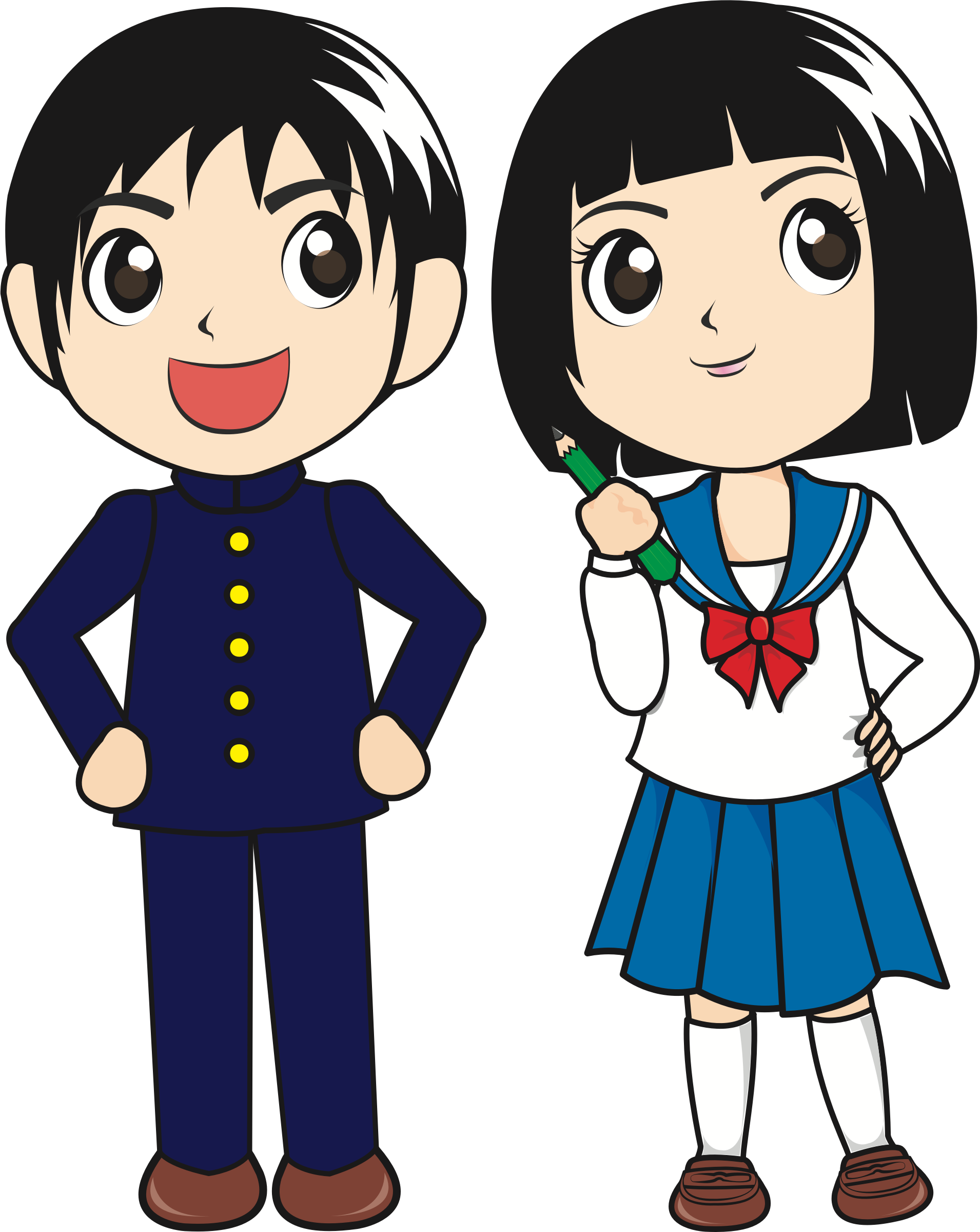 School boy and girl clipart svg download Japanese Girl Clipart at GetDrawings.com | Free for personal use ... svg download