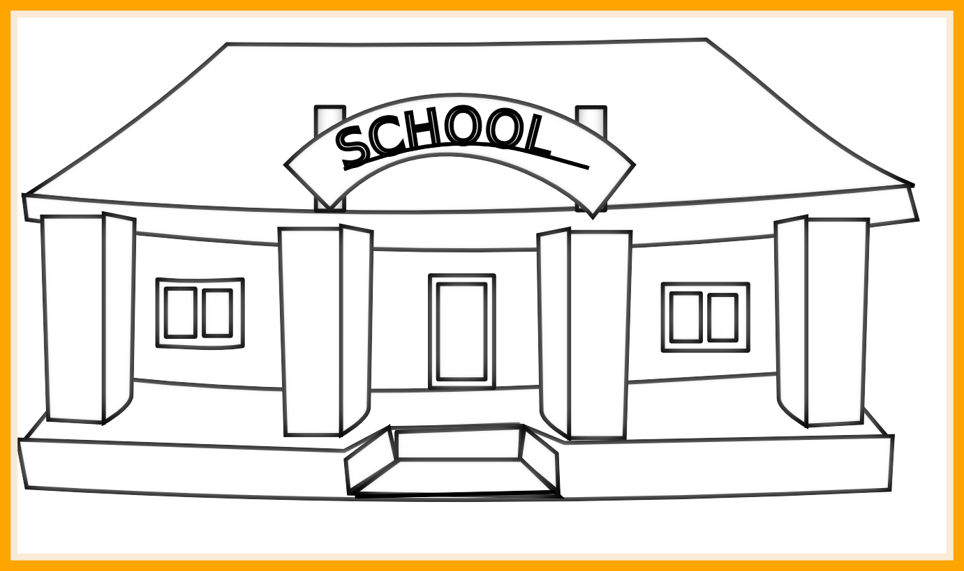 School building clipart black and white png royalty free download 17 Ideas of Lion Clipart Black And White Outline - About Lion Animal png royalty free download