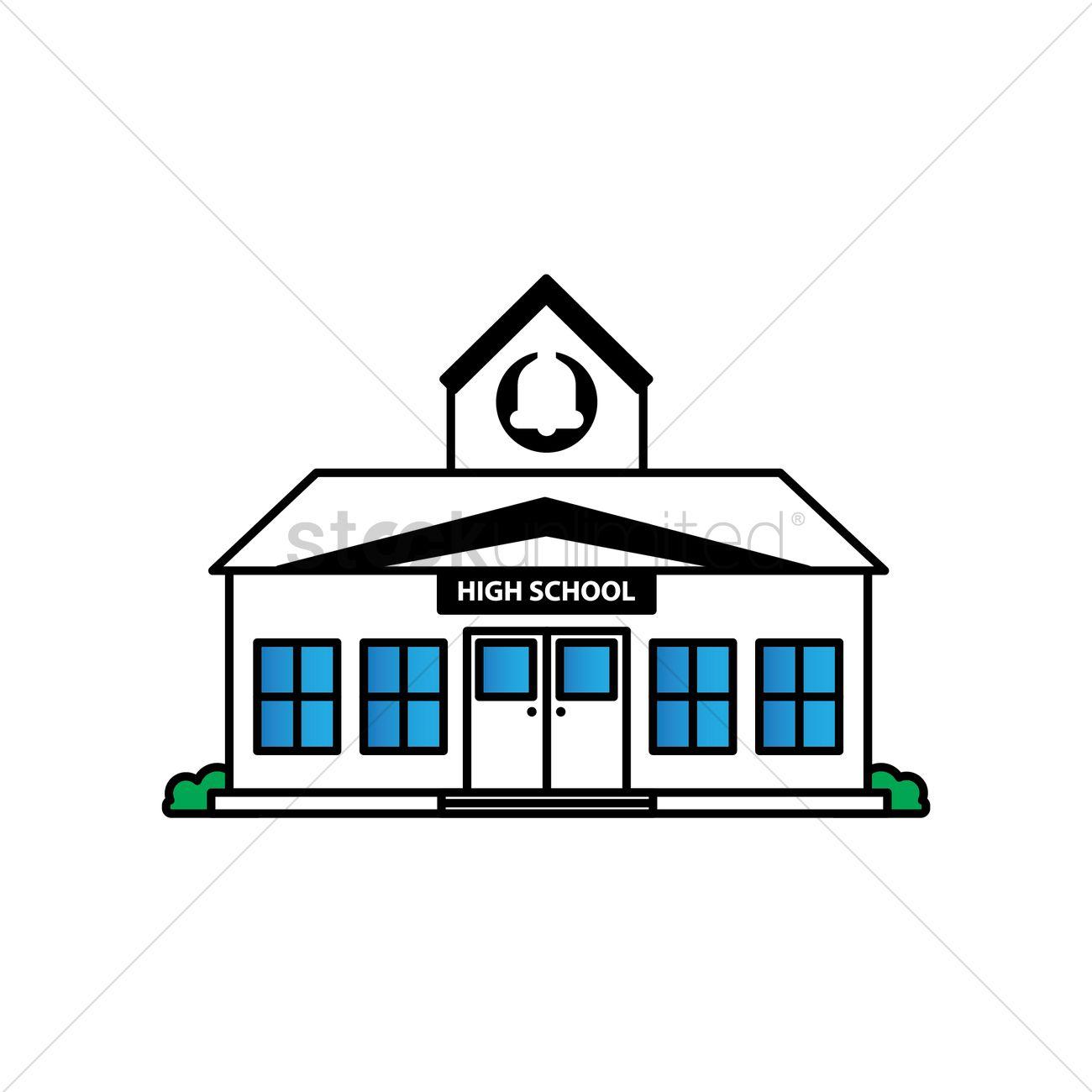 School building vector clipart clipart stock Free High school building Vector Image - 1623541 ... clipart stock