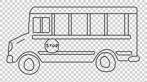 School bus clipart black and white no background vector black and white library Video: School Bus animation with transparent background ... vector black and white library