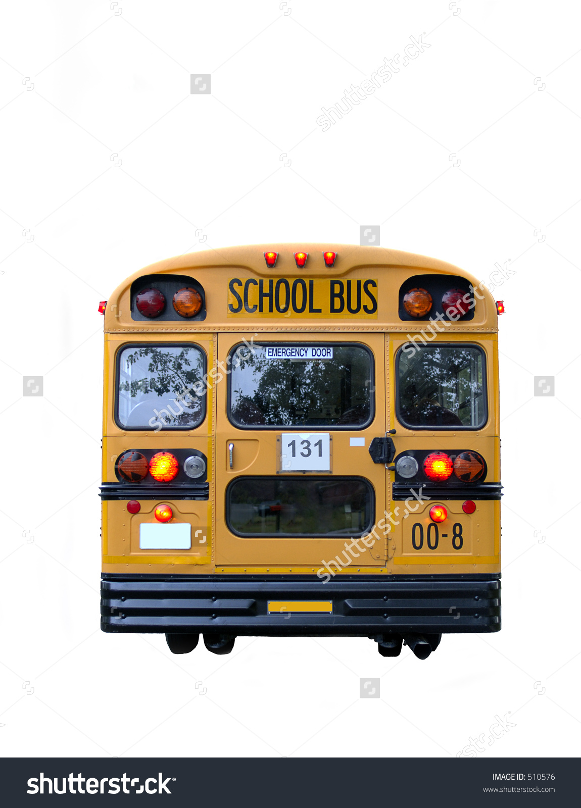 School bus flashing yellow light clipart graphic freeuse library Real School Bus Rear Kids Inside Stock Photo 510576 - Shutterstock graphic freeuse library