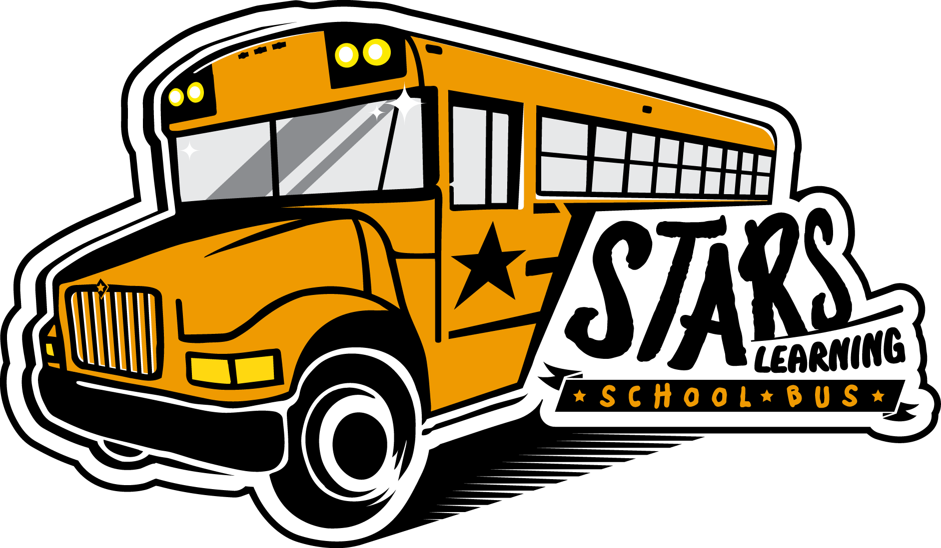 School bus safety clipart png black and white Stars Learning School Bus png black and white