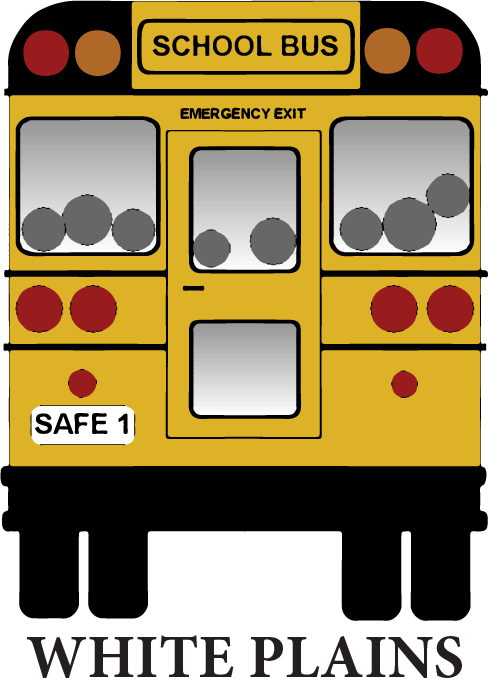 School bus safety clipart vector free library White Plains Bus Co. vector free library