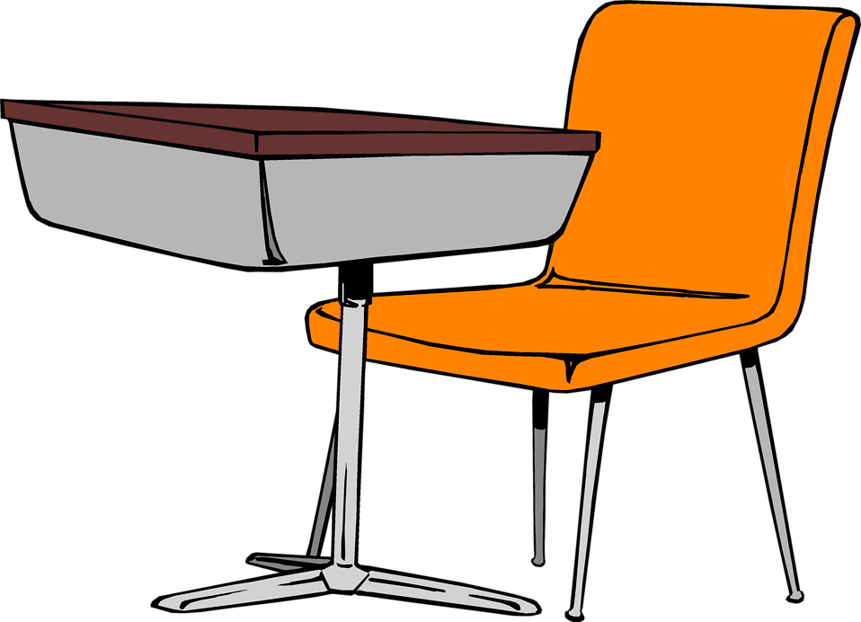 School chair clipart clipart free Desk | Free Stock Photo | Illustration of a student desk and chair ... clipart free