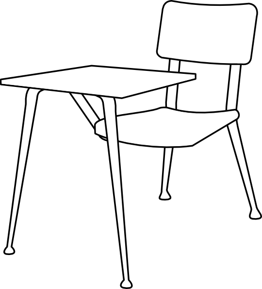 School chair clipart black and white jpg black and white library Chair Clip Art at Clker.com - vector clip art online, royalty free ... jpg black and white library