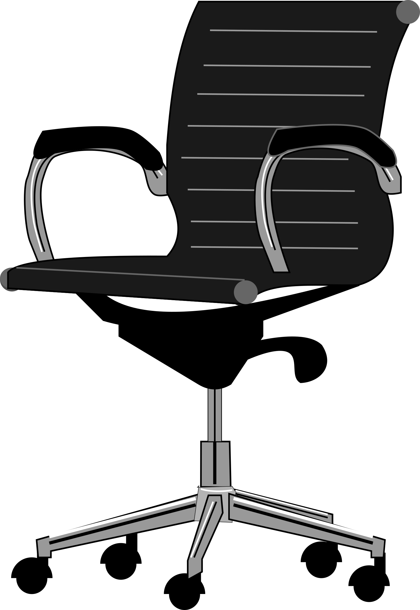 School chair clipart black and white free 28+ Collection of Office Chair Clipart Black And White | High ... free