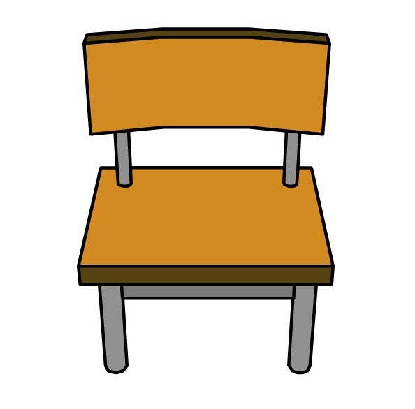 School chair clipart