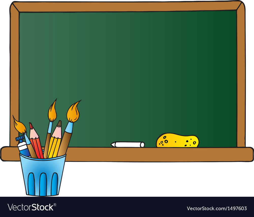 School chalk board clipart banner transparent download School Chalkboard And Pencil Cup banner transparent download