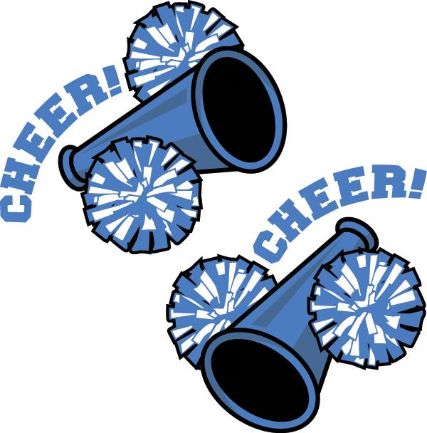 School cheerleader clipart clipart png black and white stock Blue Cheerleader Clip Art – Clipart Free Download png black and white stock