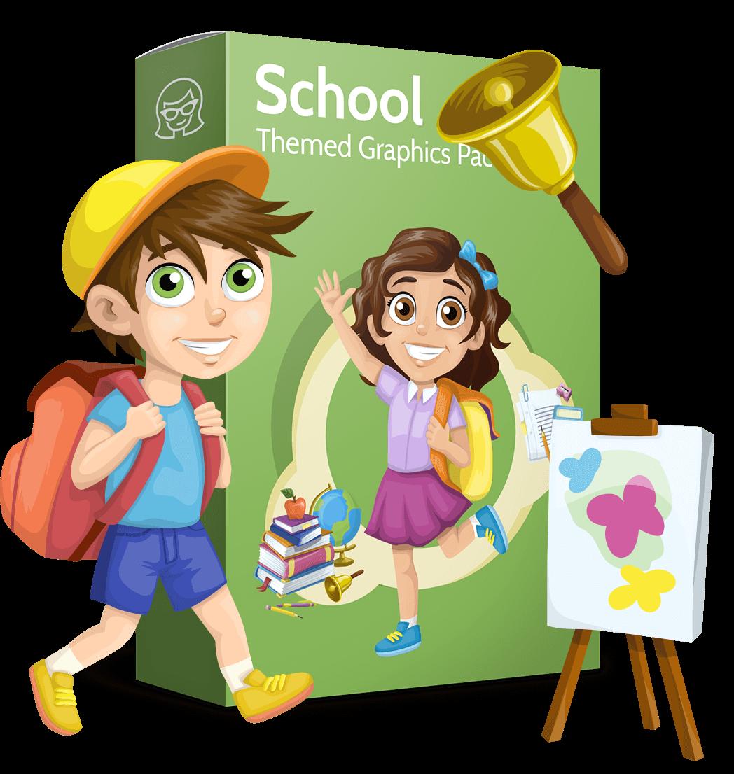 School class clipart clipart transparent Vector School Collection - Classroom Joy | GraphicMama | GraphicMama clipart transparent
