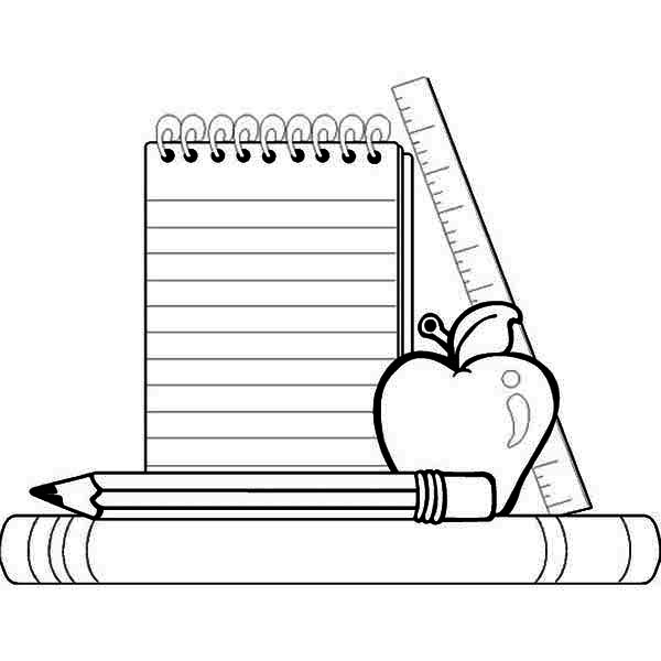 School clipart coloring page freeuse School Coloring Page. Back   Clipart Panda - Free Clipart Images freeuse