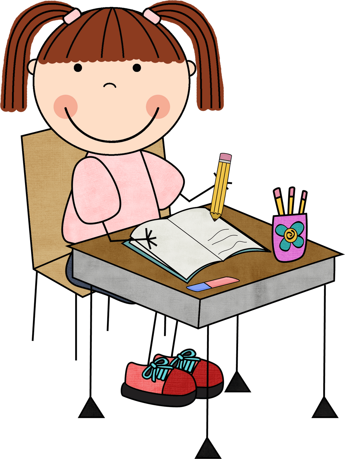 School clipart for writing png black and white Free Write School Cliparts, Download Free Clip Art, Free ... png black and white