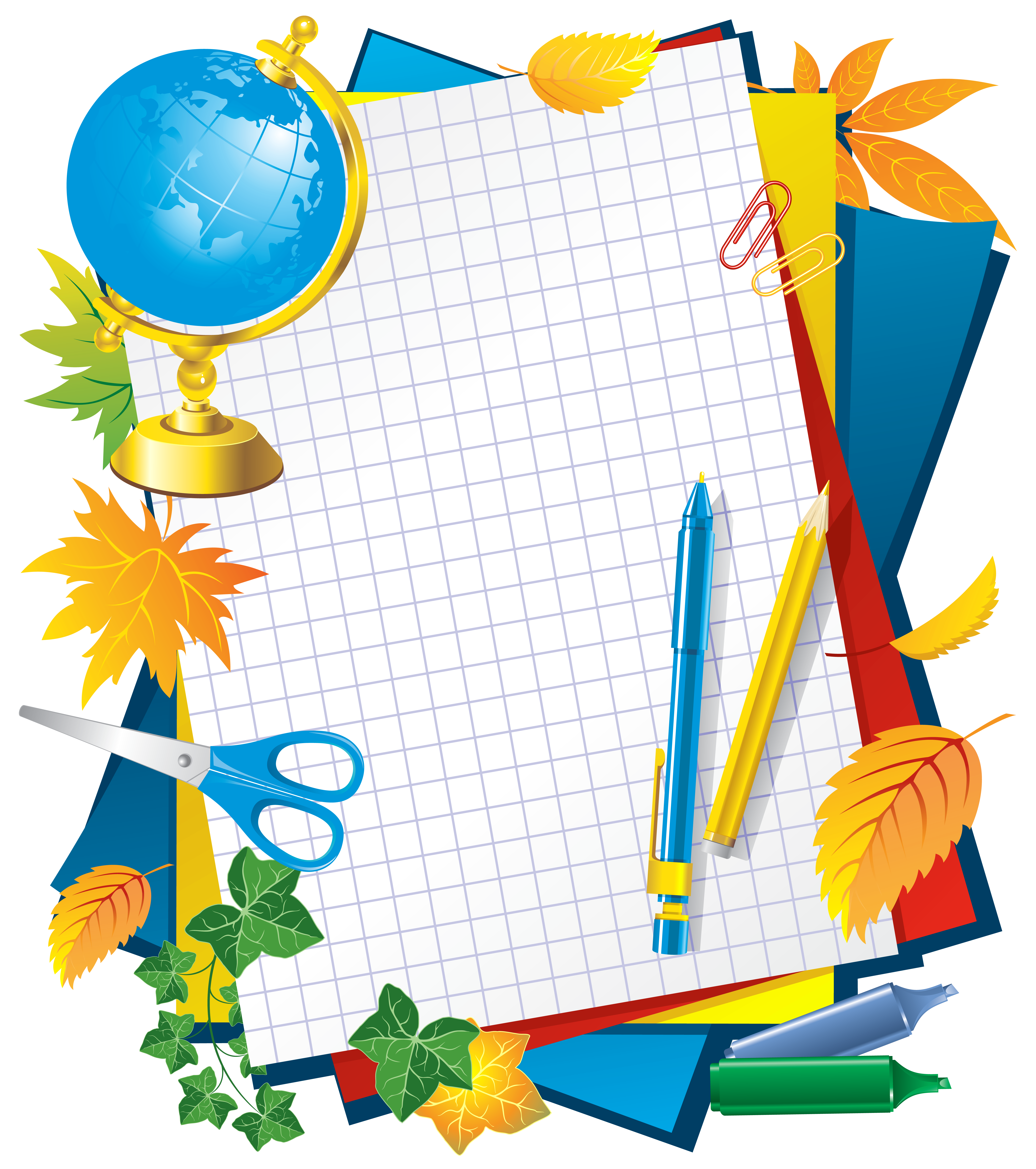 School frames clipart picture royalty free library School Decors PNG Picture | Gallery Yopriceville - High-Quality ... picture royalty free library