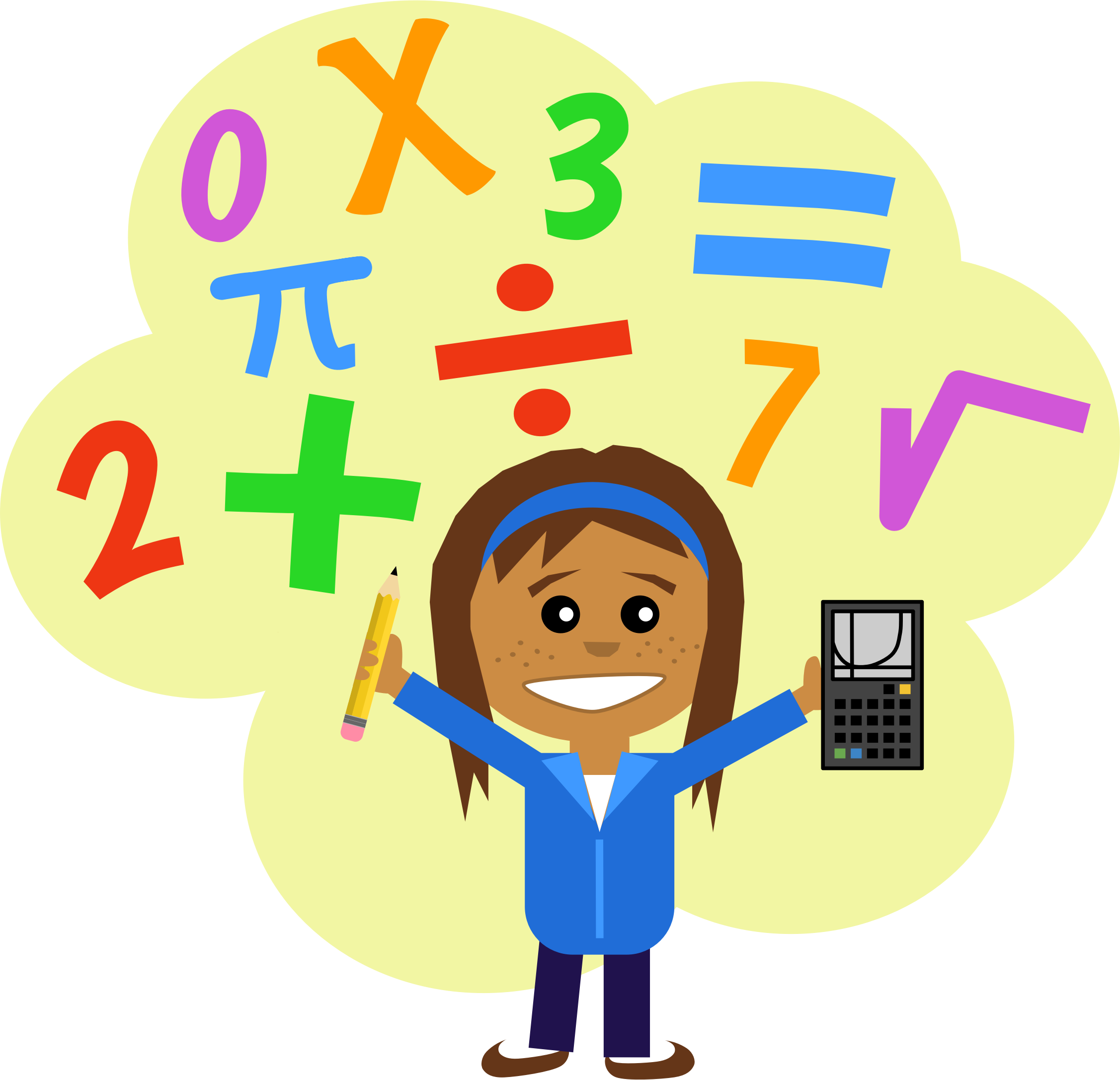 School math clipart png transparent library 28+ Collection of Math Girl Clipart | High quality, free cliparts ... png transparent library