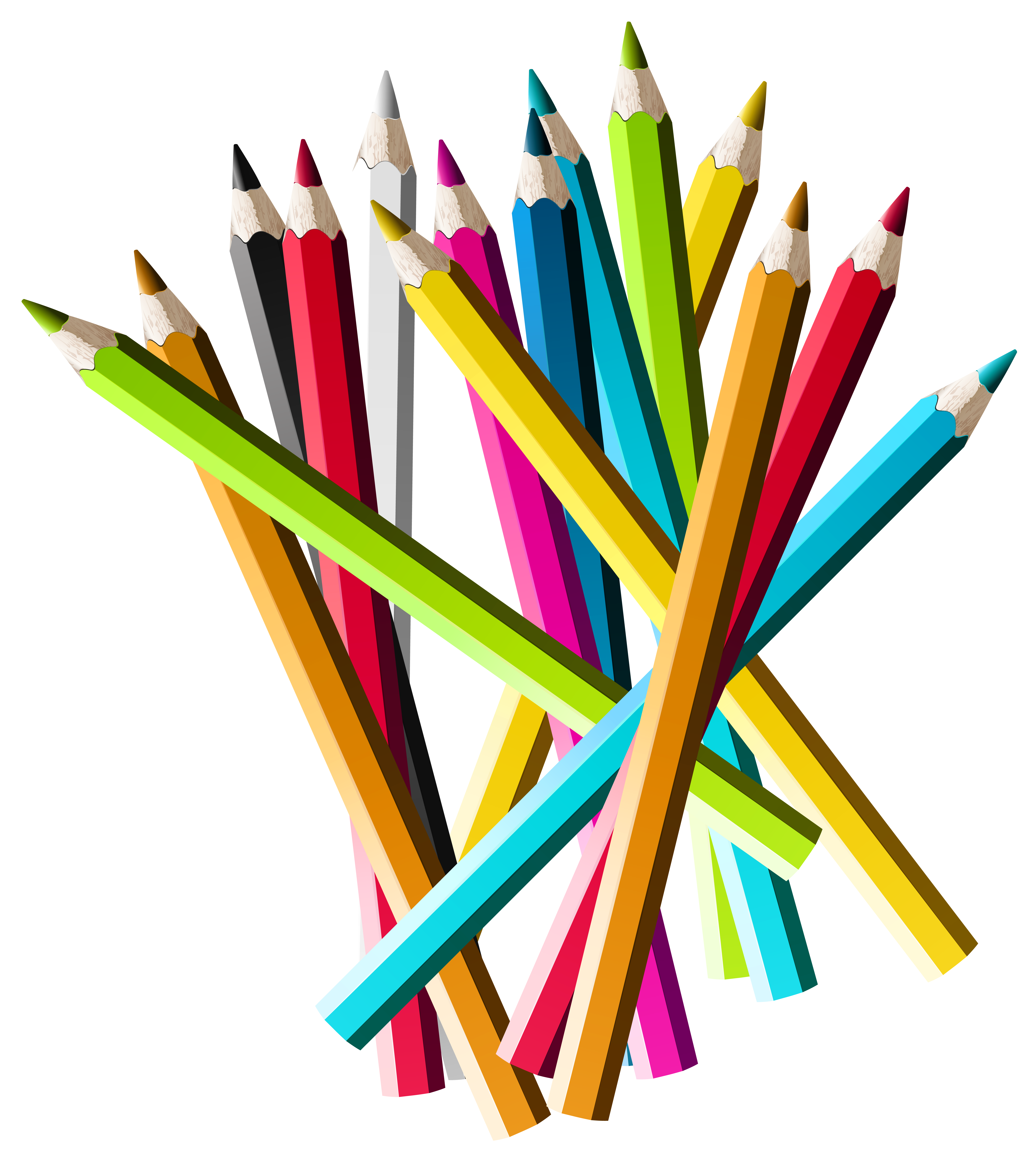 School pencil clipart vector library stock Colorful Pencils PNG Clipart Picture | Gallery Yopriceville - High ... vector library stock