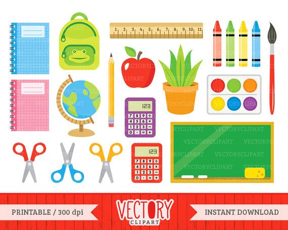 School clipart printables image royalty free 17 Best ideas about Back To School Clipart on Pinterest   Line art ... image royalty free