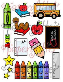 School clipart printables svg royalty free download Apple Clipart // Teacher Clipart // School Clipart // Colorful ... svg royalty free download