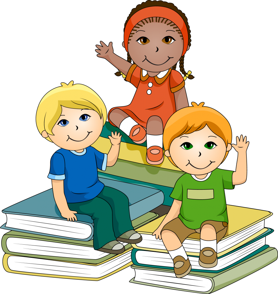 Girl holding reading book clipart svg library library School Children Clipart & School Children Clip Art Images ... svg library library
