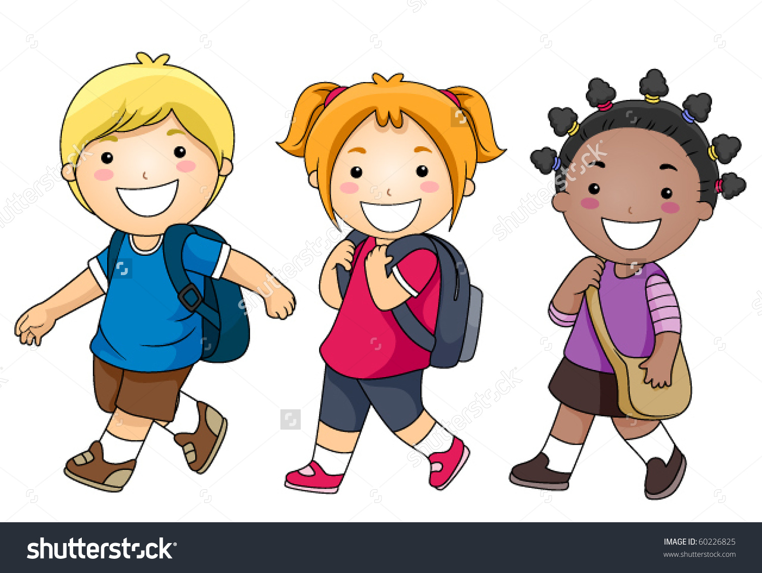 School clipart with kids clipart freeuse Group of kids at school clipart - ClipartFest clipart freeuse
