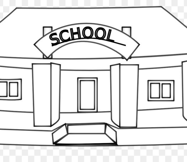 School cliparts black and white jpg royalty free library School Black And White Escuela Clip Art – White Building ... jpg royalty free library