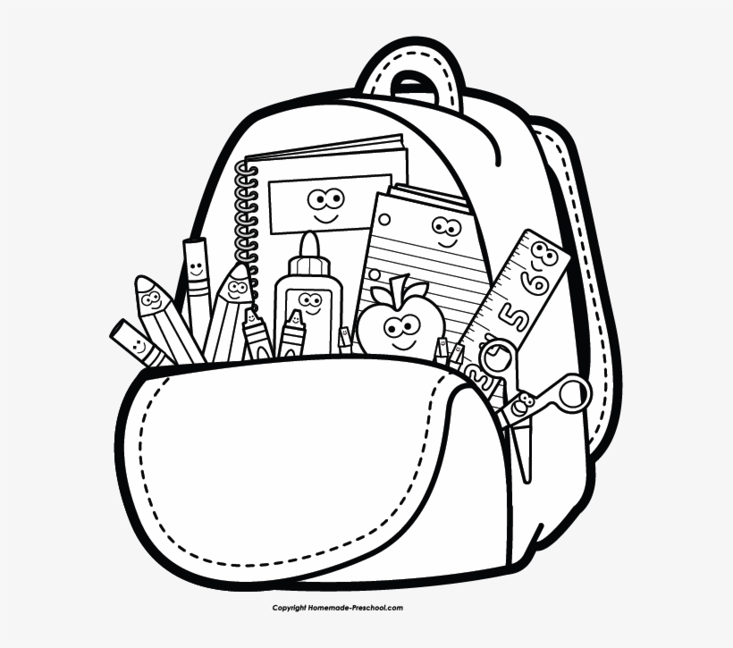School cliparts black and white png transparent download Free Back To School Clipart Png Free Stock - School Clipart ... png transparent download