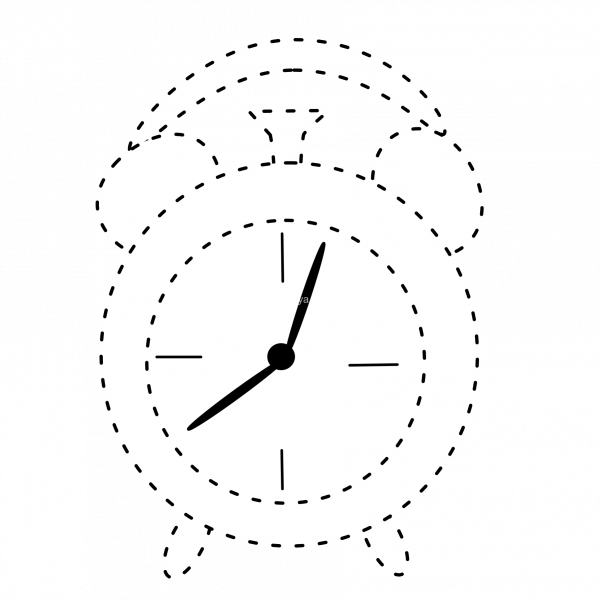 School clock clipart black and white library Back to School Tracing Clipart * Anastasiya Multimedia Studio black and white library