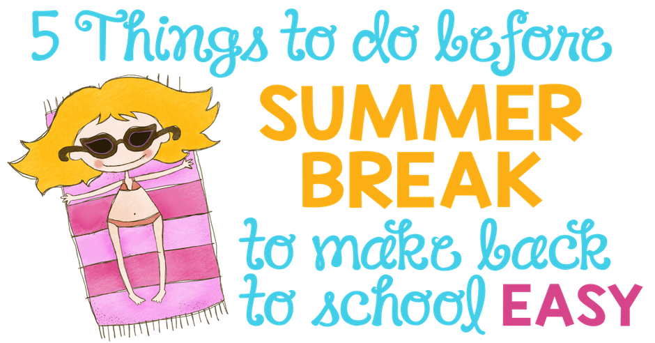 School closed for summer clipart black and white stock 5 Things To Do Before Summer Break (to Make Back to School Easy ... black and white stock