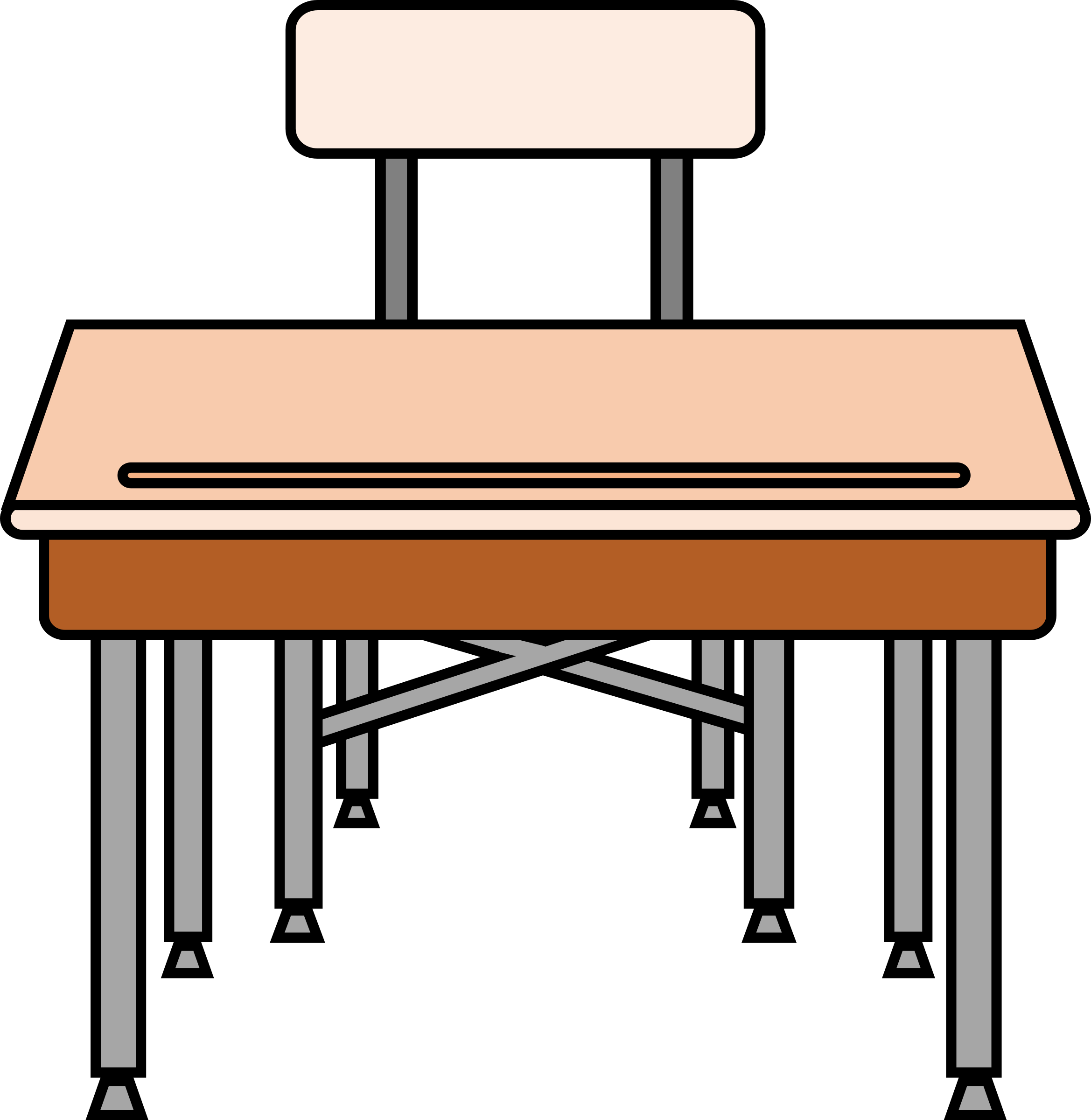 School tables clipart jpg library download Student Desk Chair Clipart. Student Desk Chair Clipart I - Deltasport.co jpg library download