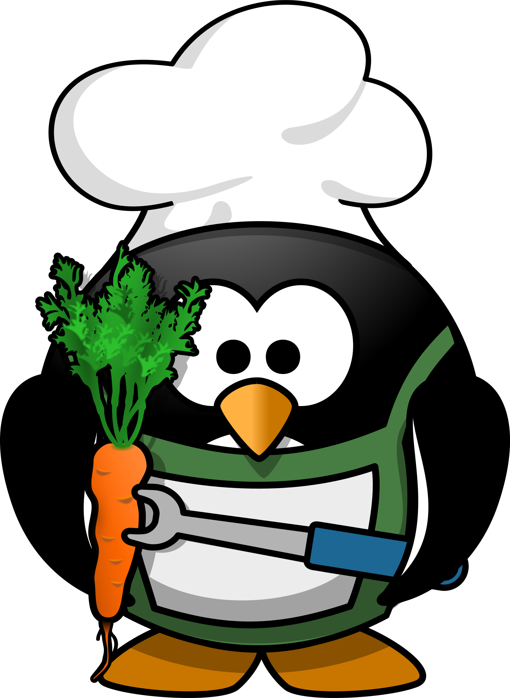 School cook clipart banner free Clipart - Veggie-Penguin banner free