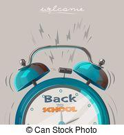School countdown clipart clip transparent stock Back school countdown Vector Clipart Illustrations. 23 Back school ... clip transparent stock