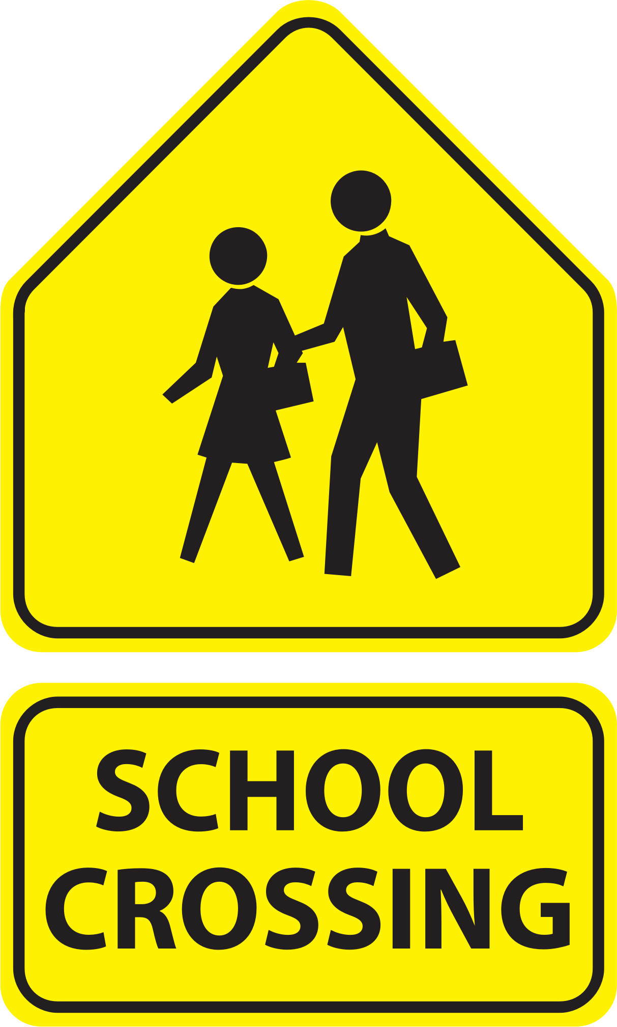 School sign clipart image free stock Clipart - School Crossing Signs image free stock