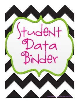 School data binder clipart free library Cute Binder Covers | classroom pretties | Student data ... free library