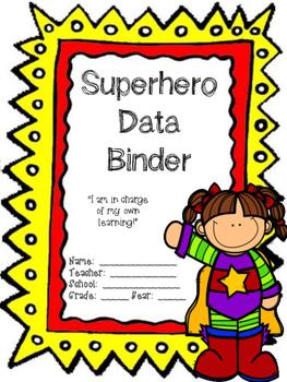 School data binder clipart image black and white library Editable Superhero Data Binder Cover image black and white library