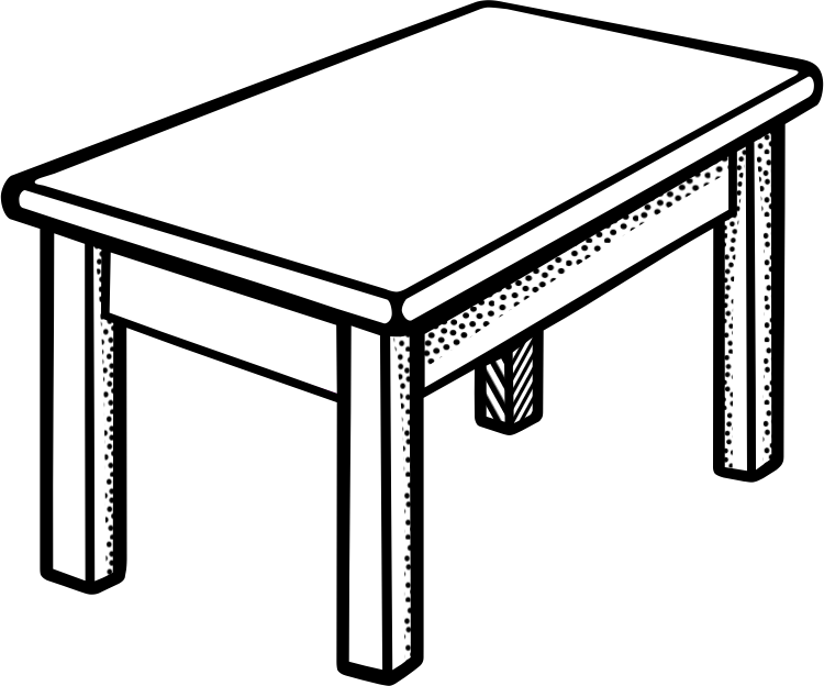 School desk clipart black and white jpg free stock Desk Clipart Black And White | Letters Format jpg free stock