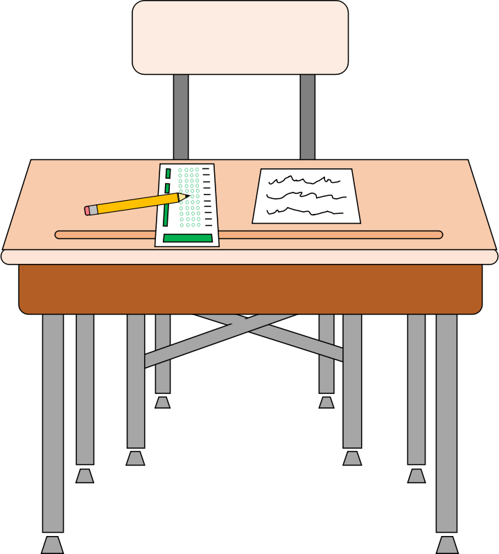 School desk clipart black and white vector library Image of Classroom Desk Clipart #12653, Free Student Desk Clip Art ... vector library