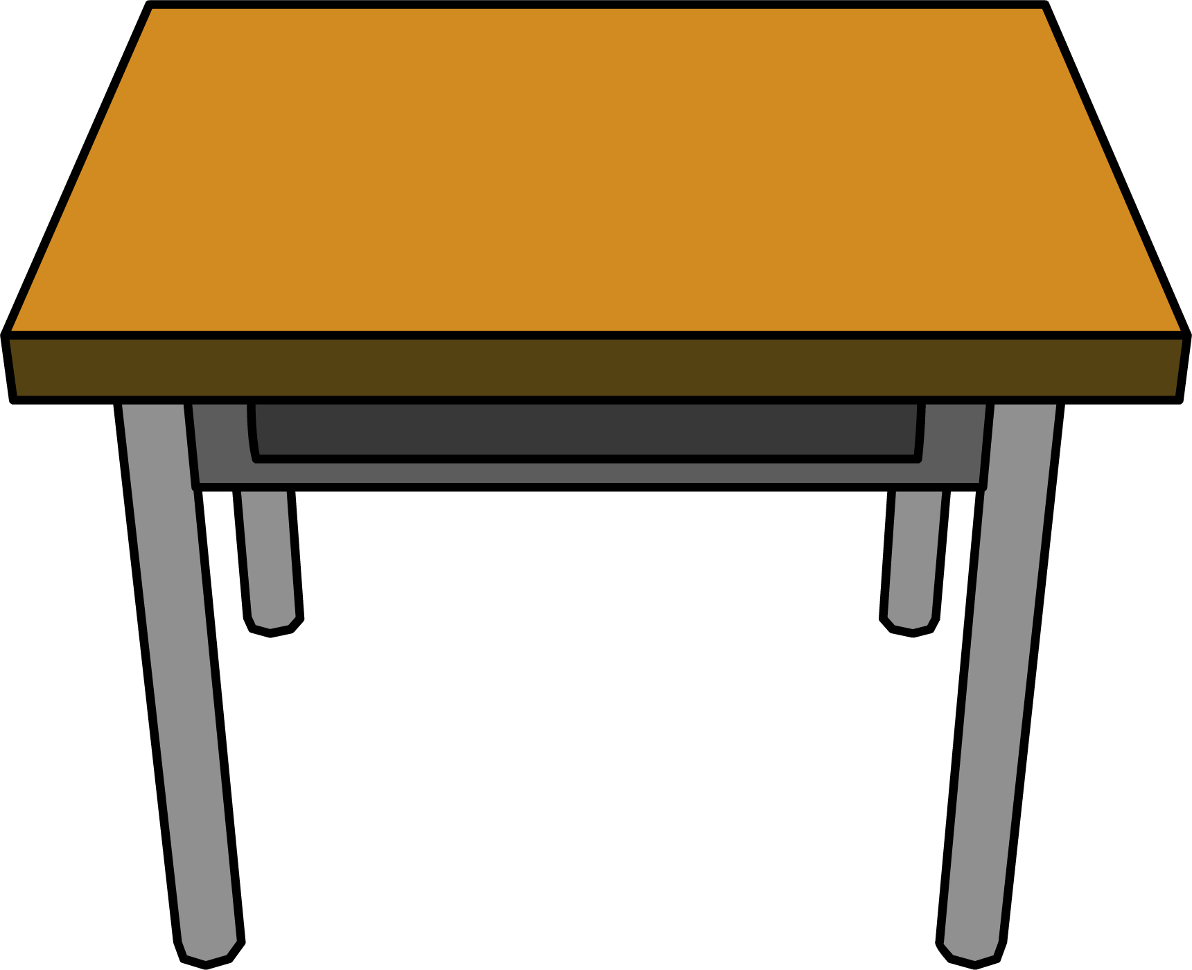School tables clipart image free download Desk Drawing transparent PNG - StickPNG image free download