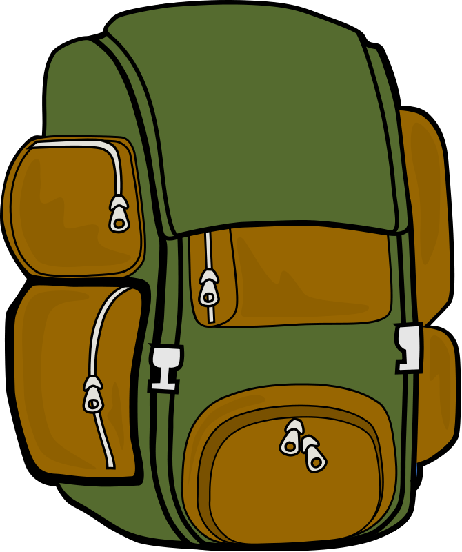 School doors clipart png royalty free Backpack (Green/Brown) Clipart | Camping Out Theme Bulletin Boards ... png royalty free