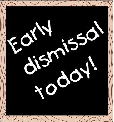 School early dismissal clipart black and white Early Dismissal for New Fairfield Schools black and white