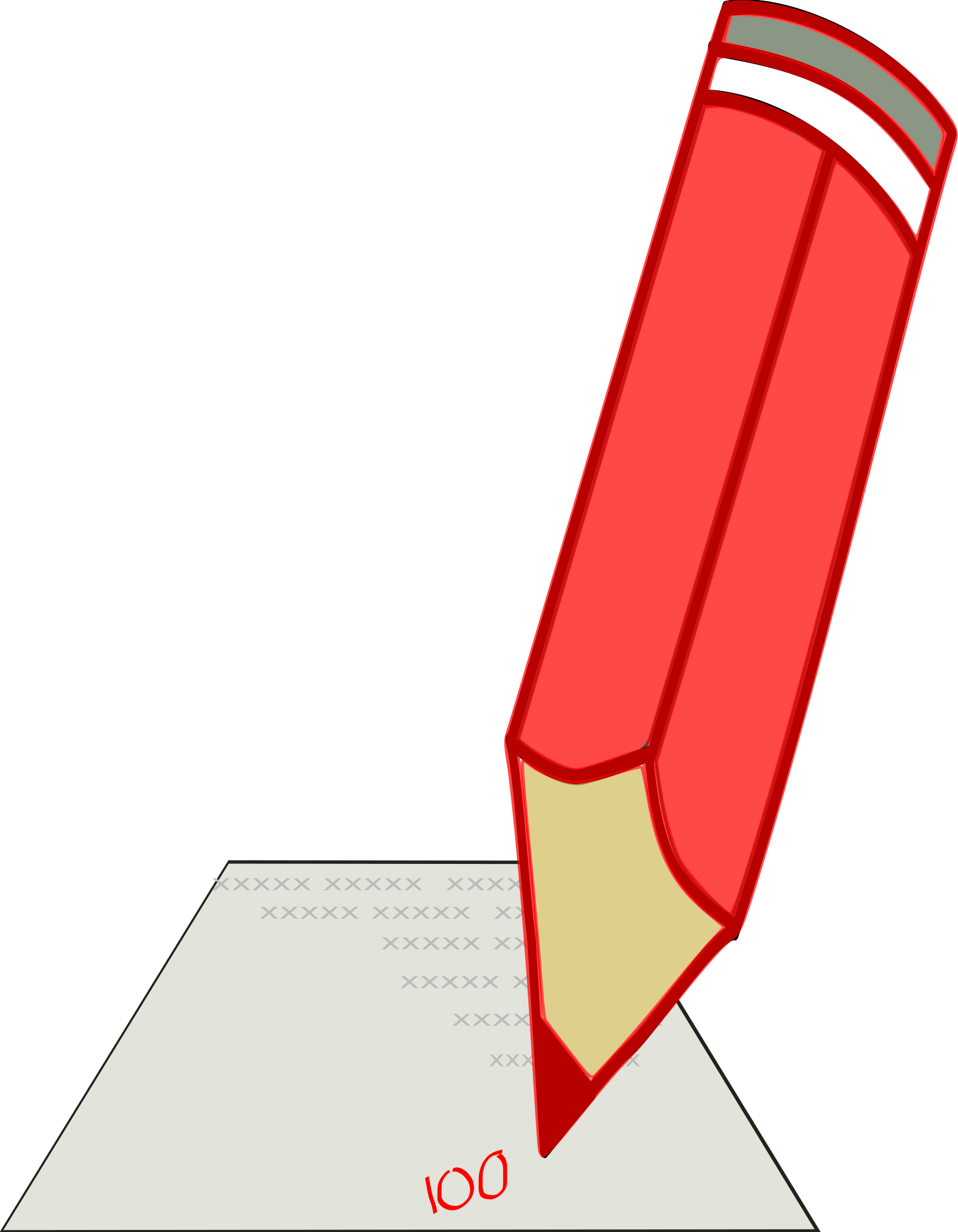 School examination clipart clipart free download Clipart - Red Pencil clipart free download