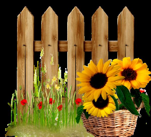 School fence clipart png freeuse download sunflower fence | garden | Pinterest | Fences, Sunflowers and ... png freeuse download
