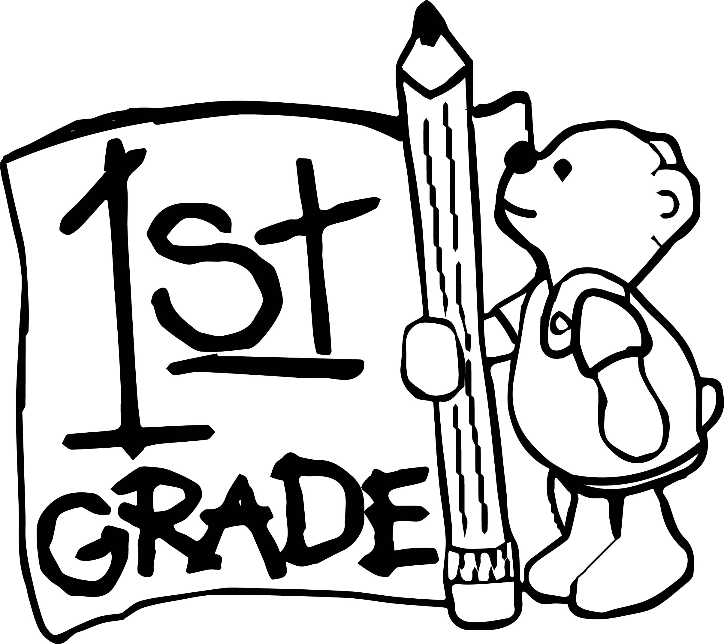 School first grade clipart black and white free jpg freeuse stock First Grade Clipart Black And White jpg freeuse stock
