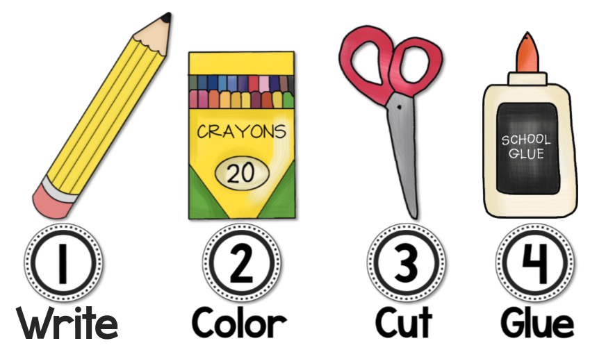 School glue clipart freeuse Visual Direction Cues For Your Whiteboard - FREEBIE | Mrs ... freeuse