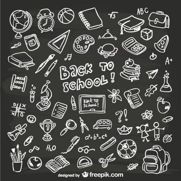 School graphics image free stock Hand-drawn school graphics Vector | Free Download image free stock